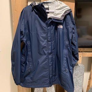 Men's XL Navy North Face Rain Jacket